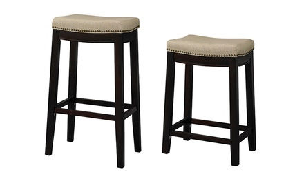 Linon Allure Backless Barstool; 24