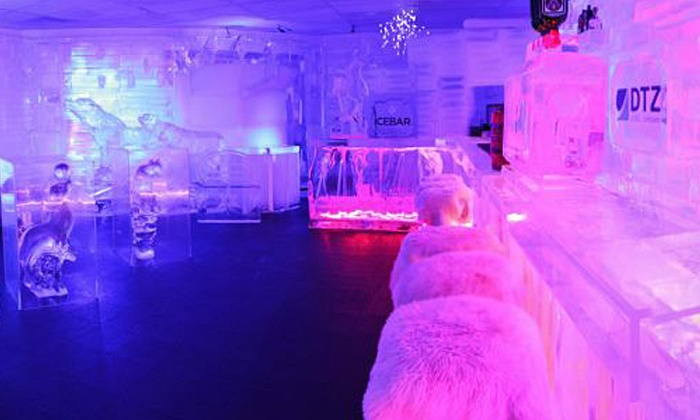 ICEBAR - Southwest Orange: Arctic-Themed Bar Night for One or Two at Icebar (Up to 52% Off)