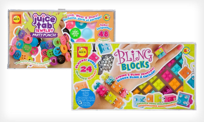 Bling Blocks and Juice Tab Jewelry: $8 for an Alex Toys Bling Blocks and Juice Tab Jewelry Bundle ($36.90 List Price)