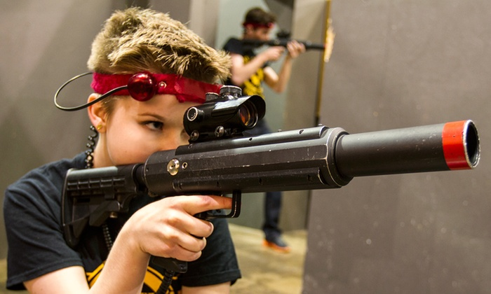 CMP Tactical Lazer Tag - Multiple Locations: Laser-Tag Session or Party Package at CMP Tactical Lazer Tag (Up to 60% Off). Four Options Available.