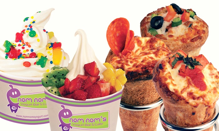 Nom Nom's Yogurt Bar & Cafe - Multiple Locations: C$12 for Three Groupons, Each Good for $8 of Frozen Yogurt at Nom Nom's Yogurt Bar & Cafe (C$24 Value)