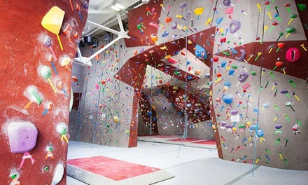 On the Rocks Package for Two at Santa Barbara Rock Gym (50%Off)