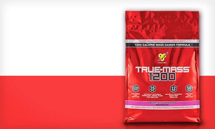 True Mass 1200 Mass Gainer: $49.99 for True Mass 1200 Strawberry Mass Gainer ($79.99 List Price). Free Shipping.