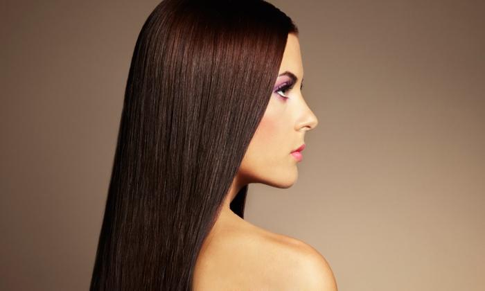 Garcia's Hair Salon - Crestwood: Brazilian Blowout, Split-End Treatment, or Both at Garcia's Hair Salon (Up to 56% Off)