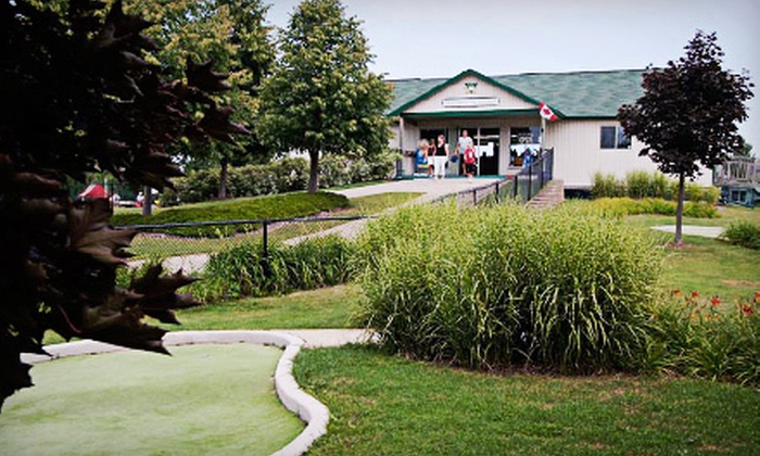 Wedges 'N Woods - Cambridge: 18-Hole Round of Mini Golf for Two or Two Large Buckets of Driving-Range Balls at Wedges 'N Woods (Up to 52% Off)