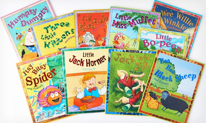 10-Book Set of Classic Nursery Tales : $19.99 for a 10-Book Set of Classic Nursery Tales ($89.50 List Price). Free Shipping.