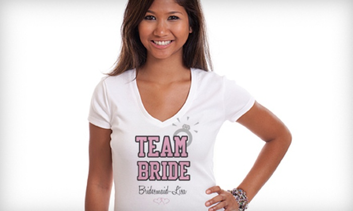 ShirtsBy56 - 6: Six Custom-Designed Bridal-Party Shirts or $25 for $50 Worth of Apparel from ShirtsBy56