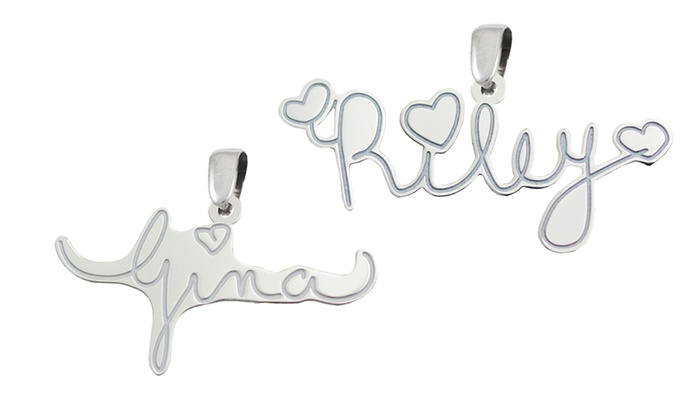 Kidz Can Design: $24.99 for a Custom Sterling Silver Signature Pendant from Kidz Can Design ($129.99 value)