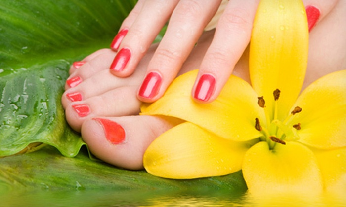 Stevee Danielle Hair and Make Up - Silverado Ranch: Mini or Regular Mani-Pedi or Gel Manicure and Regular Pedicure at Stevee Danielle Hair and Make Up (Up to 58% Off)