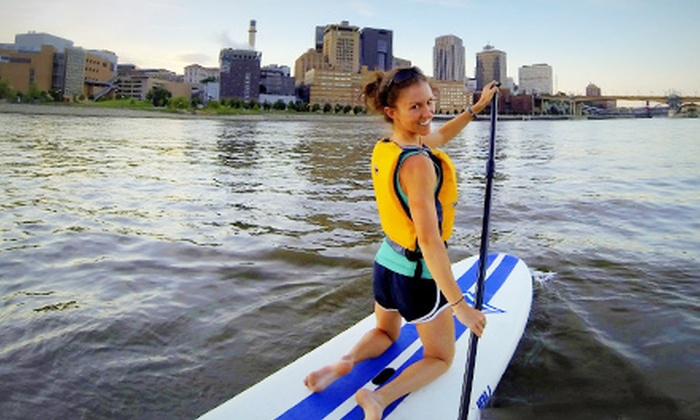 Stand Up MN - Multiple Locations: Taylors Falls, Sunset, or University of Minnesota Gorge Standup-Paddleboard Tours from Stand Up MN (Up to 51% Off)