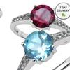 Genuine Gemstone Rings in Sterling Silver