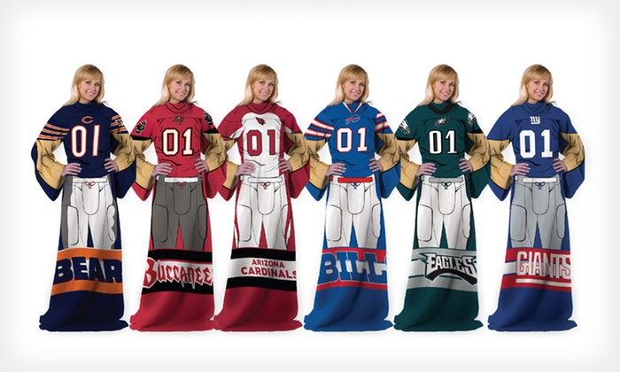 NFL Full-Body Comfy Throw: $19 for an NFL Full-Body Comfy Throw with Sleeves ($27.99 List Price). 32 Team Logos Available. Free Shipping.