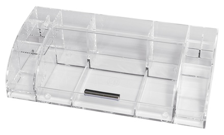 Large Acrylic Single-Door Cosmetic Organizer