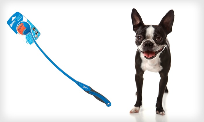 Chuckit! Ball-Launcher Dog Toy: $7.99 for a Canine Hardware Chuckit! Ultra Grip Ball-Launcher Dog Toy ($19.99 List Price)