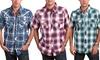 Men's Plaid Short-Sleeve Button-Down Shirts: Men's Plaid Short-Sleeve Button-Down Shirts