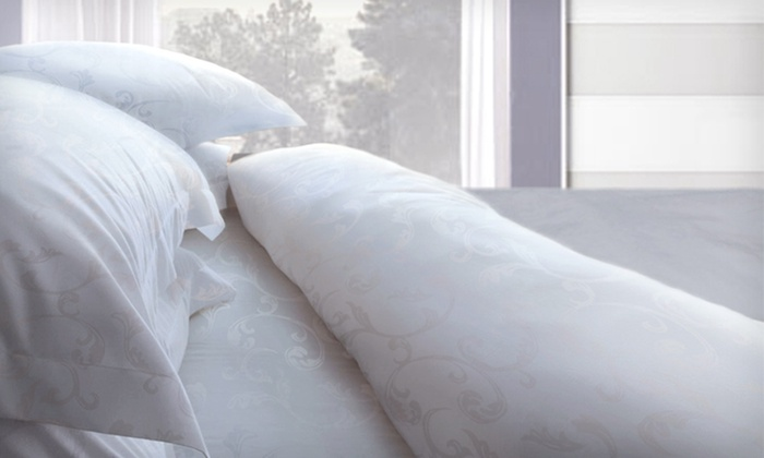 Hotel New York Floral-Embossed Sheet Set: $22 for Hotel New York Four-Piece Microfiber Sheet Set in Full, Queen, or King ($69.99 List Price). 13 Colors Available.