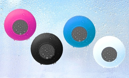 groupon daily deal - Merkury Innovations Bluetooth Shower Speaker with Mic. Multiple Colors Available. Free Returns.