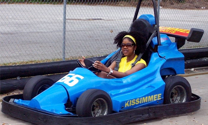 Kissimmee Go-Karts - Kissimmee: $20 for Indy-Kart Package with Arcade Tokens and Gator Feeding for Two at Kissimmee Go-Karts ($80.50 Value)
