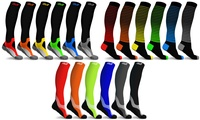 Groupon.com deals on 6-Pack DCF Bright Knee High-Compression Sock Collection