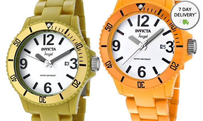 Women's Invicta Angel Watches: Women's Invicta Angel Watches in Orange, Gray, or Yellow-Green. Free Shipping and Returns.