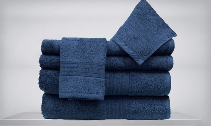 Spa Collection Six-Piece 100% Egyptian-Cotton Towel Set: $43.99 for a Spa Collection Six-Piece Egyptian-Cotton Towel Set ($84 List Price). 10 Colours Available.
