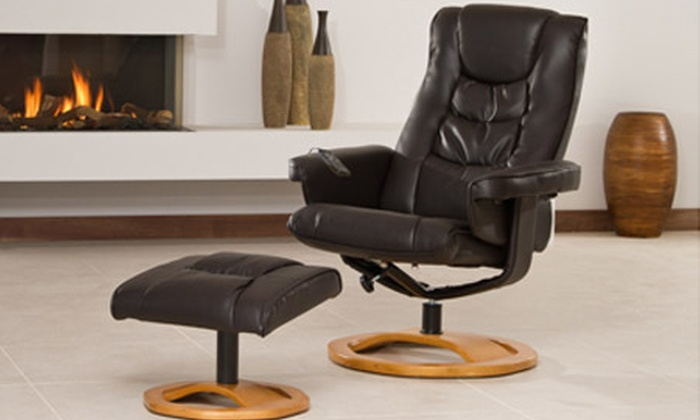 KH Direct Ltd Bonded Leather Reclining Swivel Chair from £139 With Free Delivery ... & Bonded Leather Reclining Chair | Groupon Goods islam-shia.org