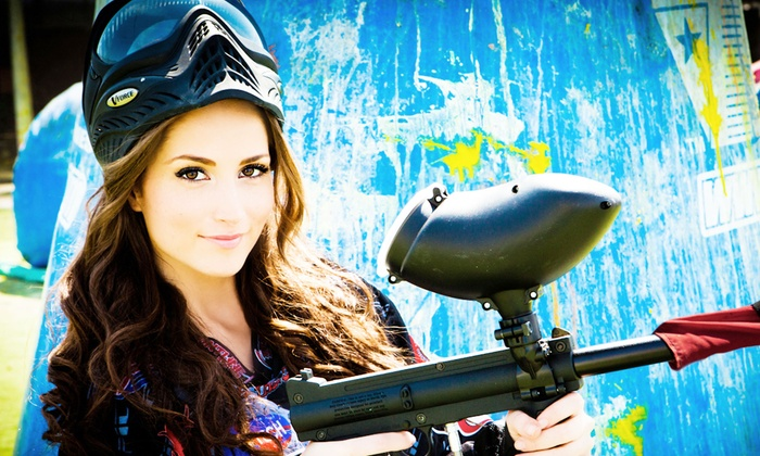 Paintball International - Multiple Locations: All-Day Paintball Package with Equipment Rental for 4, 6, or 12 from Paintball International (Up to 79% Off)