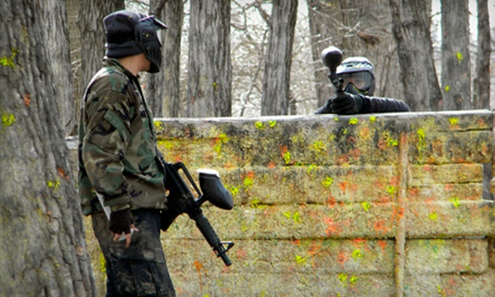 Badlandz Paintball Field - Crete: Open-Play Paintball with Equipment and 250 Balls for Two, Three, or Eight at Badlandz Paintball Field (Up to 71% Off)