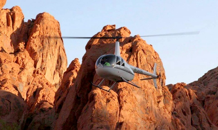 Skyline Helicopter Tours - North Las Vegas Airport: Strip, Red Rock Canyon, or Viva Las Vegas Tour from Skyline Helicopter Tours (Up to 49% Off). Four Options.