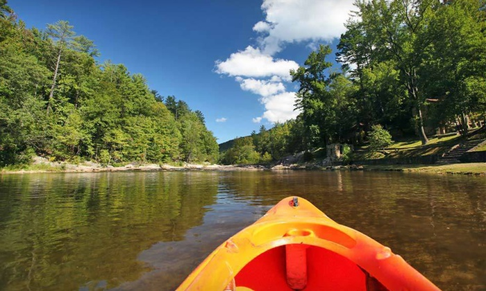 Brown Mountain Beach Resort - Johns River: Two-Night Stay with Optional Canoeing or Tubing Trip at Brown Mountain Beach Resort in Lenoir, NC