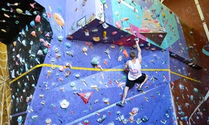 City Summit Rock Climbing: $20 Indoor Rock Climbing Pass for Two or $39 to Add Pizza and Smoothies at City Summit Rock Climbing (Up to $88 Value)