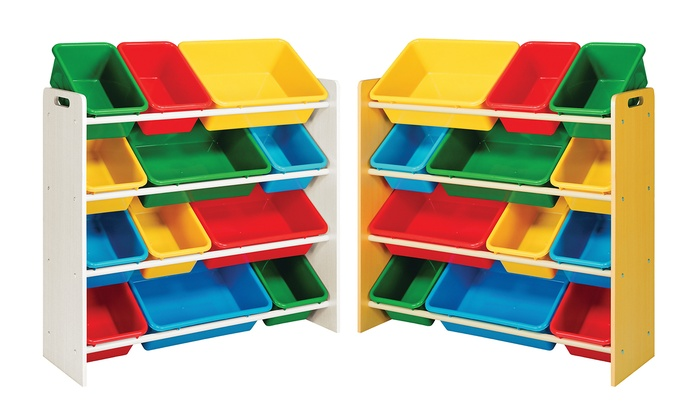 Multicolored 12 Bin Toy Organizer: Multicolored 12 Bin Toy Organizer ...