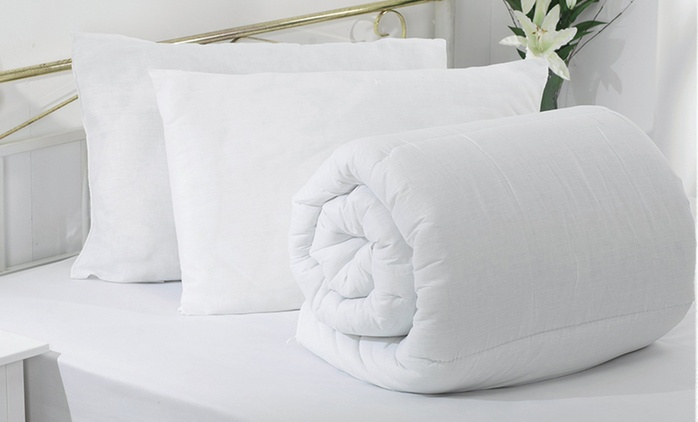 Two X-Tra Plump Pillows (£9.98) and Duvet Sets (£16.99) (Up to 71% Off)