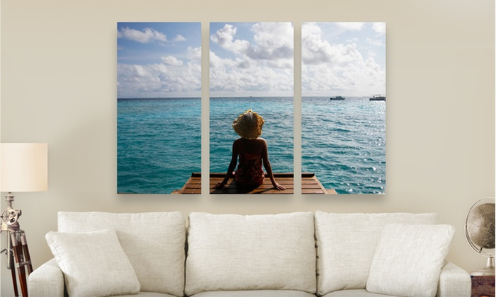 """Personalized Canvas on Demand Triptych PhotoSplits: Canvas on Demand 36""""x24"""" or 45""""x30"""" Triptych PhotoSplit (Up to 80% Off). Free Shipping."""