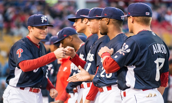 Reading Fightin Phils - FirstEnergy Stadium: Reading Fightin Phils Baseball Game for Four with First Pitch & Autographed Ball (45% Off). Four Dates Available.