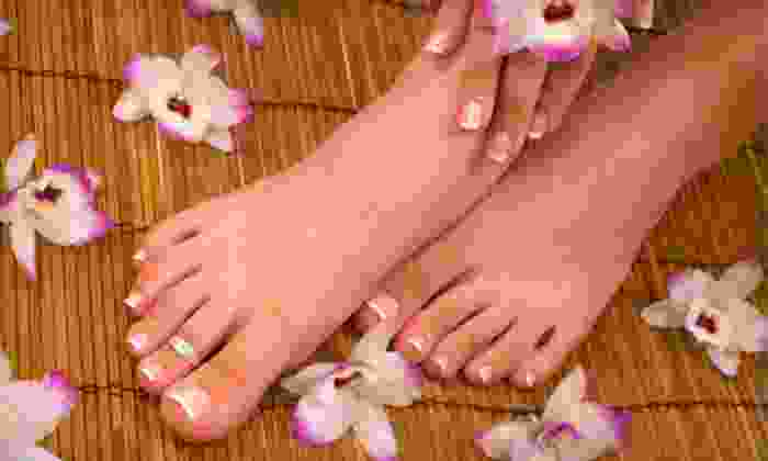 Blush & Glow Day Spa - Sunnyside: Mani-Pedi or an OPI-Gel Mani-Pedi with Optional Paraffin Treatment at Blush & Glow Day Spa (Up to 55% Off)
