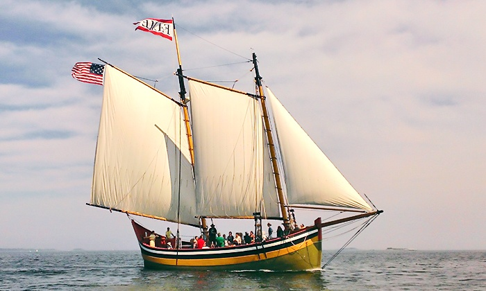 "Schooner ""Fame"" - Pickering Wharf, Salem: Sailing Outing for One or Two on the Schooner ""Fame"" (Up to 44% Off)"