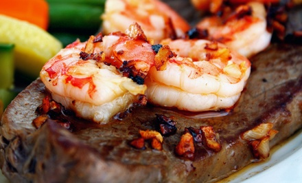 Steak-House Food for Dine-In or Takeout at Cedar Rock Grill (Up to 45% Off)