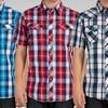 Micros Men's Short-Sleeve Snap-Front Shirts