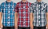 Micros Men's Short-Sleeve Snap-Front Shirts: Micros Men's Short-Sleeve Snap-Front Shirts. Multiple Options Available. Free Returns.