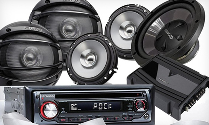 Tunes-N-Tint/Alarms, Etc. - Multiple Locations: Kenwood AM/FM Radio & CD Player with Speakers Option at Tunes-N-Tint/Alarms, Etc. (Up to 51% Off). 3 Options Available.