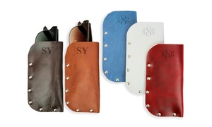 Personalized Genuine Leather Eyeglass Case from Monogramonline