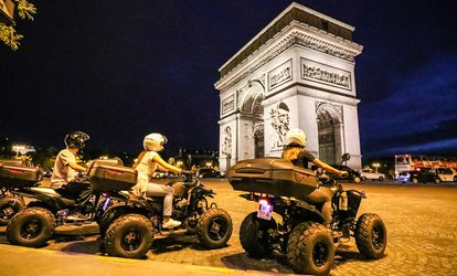 "Balade d'1h30 en quad ""Paris By night"" en solo ou en duo dès 49,90 € avec Quad In The City"