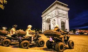 """Quad In The City: Balade d'1h30 en quad """"Paris By night"""" en solo ou en duo dès 39,90 € avec Quad In The City"""