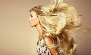 Barron's London Salon: Keratin Treatment or Highlights and Condition with Optional Haircut at Barron's London Salon (Up to 67% Off)