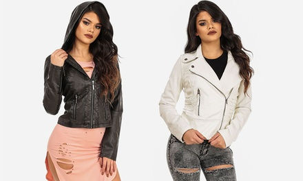 Women's Faux Leather Biker Jackets
