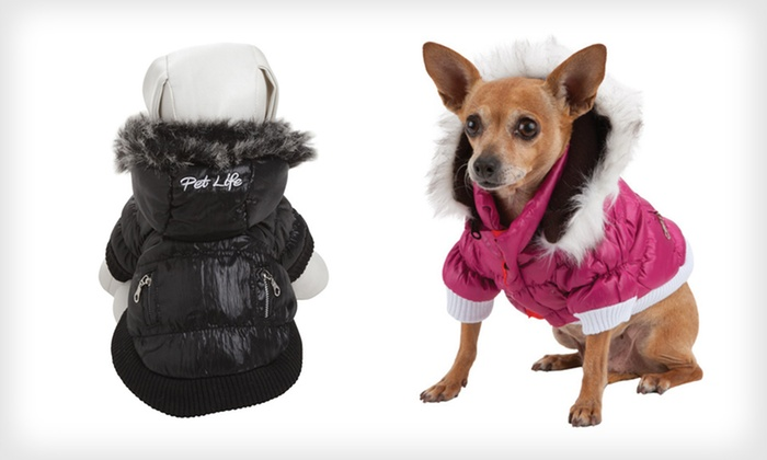 Pet Life Ski Parka with Removable Hood: $19 for a Pet Life Ski Parka Hood ($48.99 List Price). Multiple Colors and Sizes Available. Free Shipping and Returns.