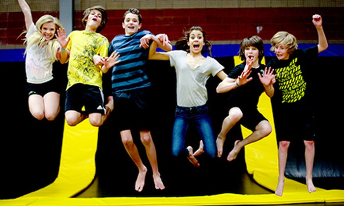 Get Air Sportsplex - Kaysville: Trampoline Outing for Two or Four at Get Air Sportsplex (Up to 53% Off)