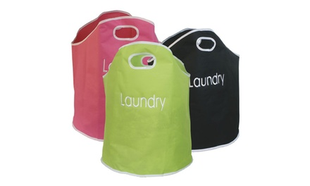 Fabric Laundry Bag in Choice of Colour: One £5.99 or Two £8.99