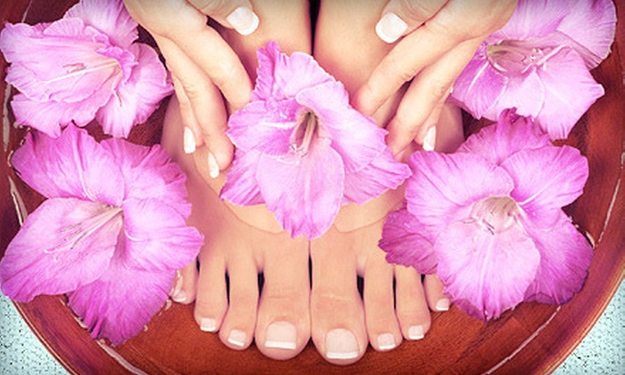 Tammy Montgomery at Studio 9 Salon - Sparks: Mini Mani-Pedi or Set of Gel or Acrylic Nails from Tammy Montgomery at Studio 9 Salon (55% Off)